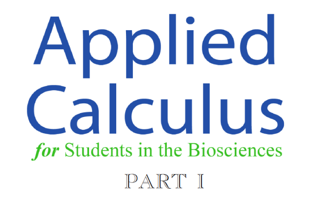 Applied calculus for students in the biosciences ACSB
