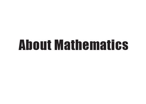 About Mathematics JMAM