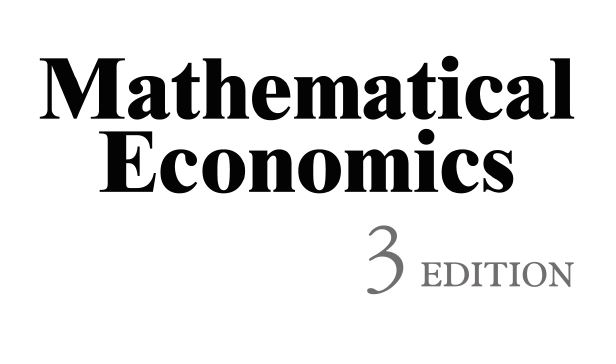Mathematical Economics ME01