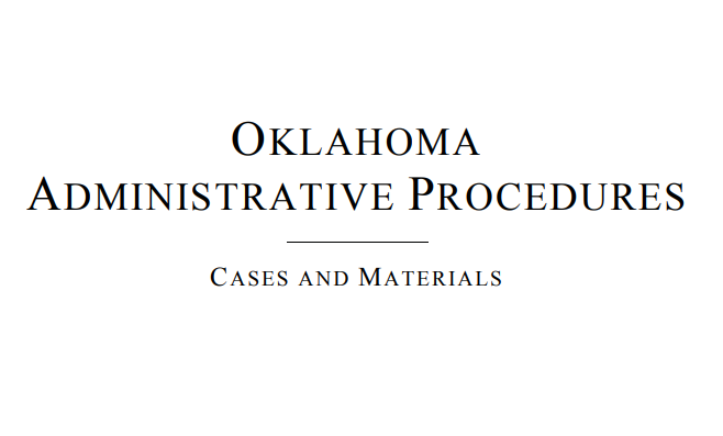 Oklahoma Administrative Procedures OAP1